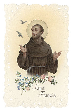 St. Francis Vintage Replica holy card