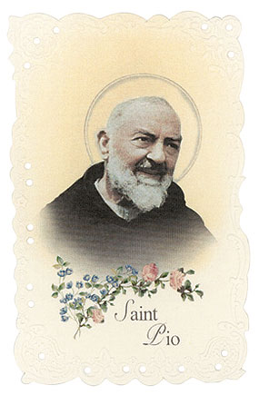 St. Padre Pio Vintage Replica holy card