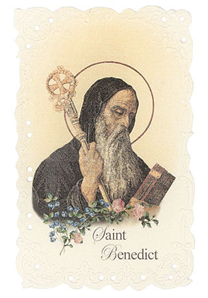 St. Benedict Vintage Replica holy card