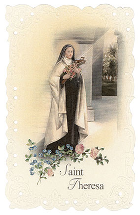 St. Therese Vintage Replica holy card