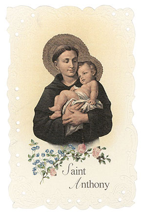 St. Anthony Vintage Replica holy card