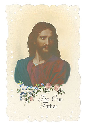 Head of Christ Vintage Replica holy card