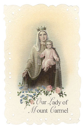 Our Lady of Mt. Carmel Vintage Replica holy card