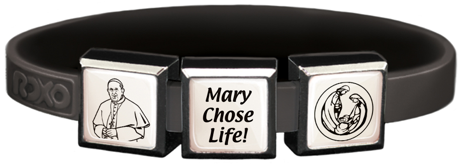 Mary Chose Life Charms Wristband
