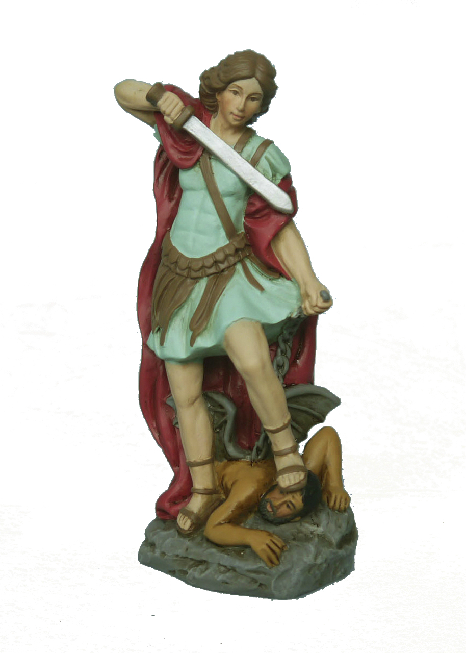 St. Michael the Archangel 4 inch resin statue
