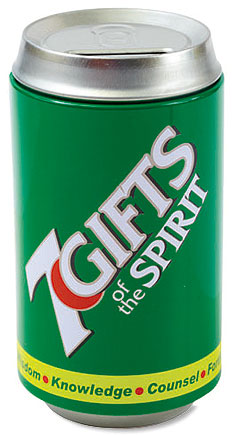7 Gifts of the Spirit Soda Can Bank