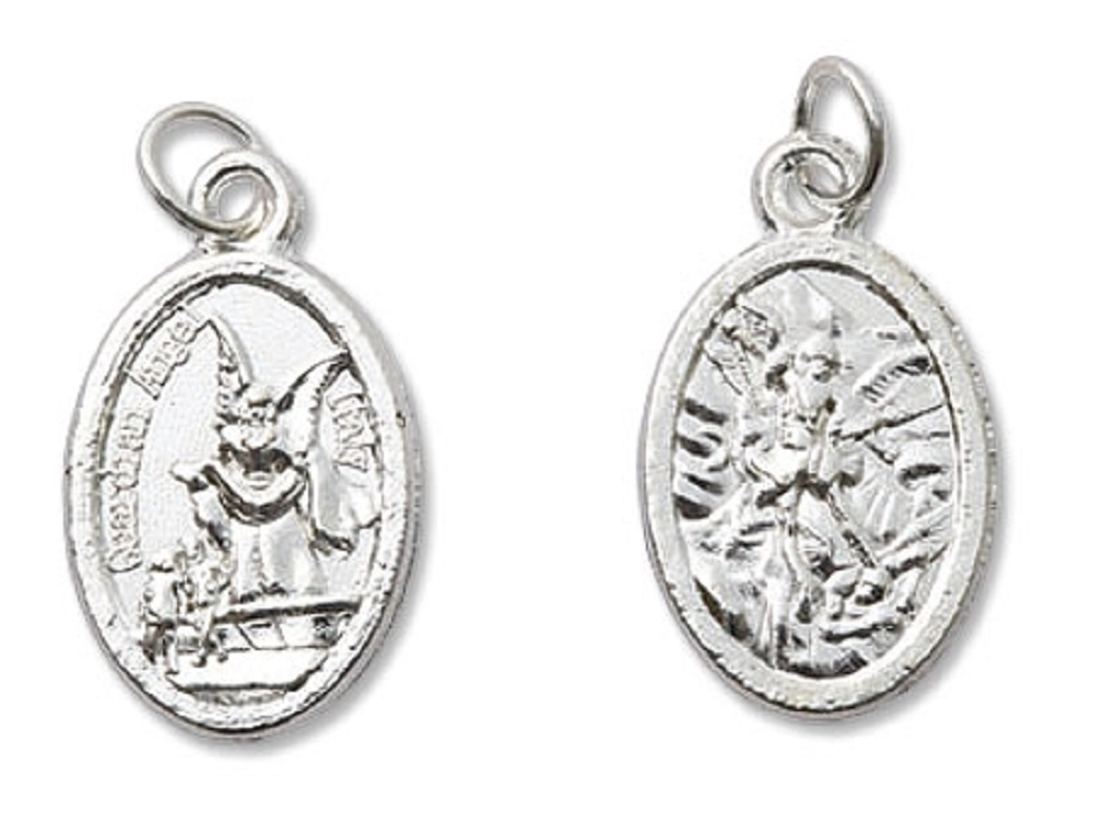 Mini Devotional Medal of St. Michael with Guardian Angel