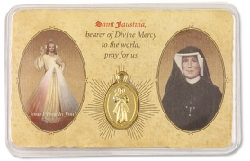 Divine Mercy medal on card