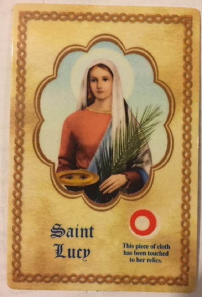 St. Lucy Relic cards