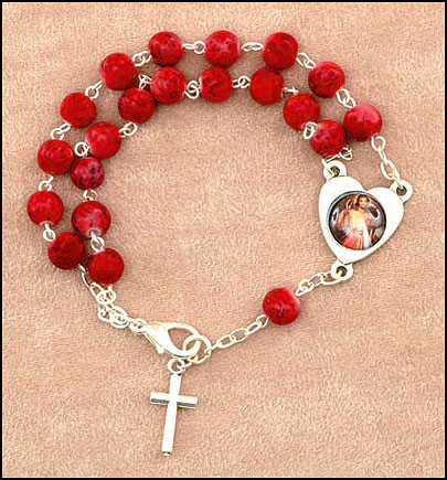 Divine Mercy Double Chain Rosary Bracelet