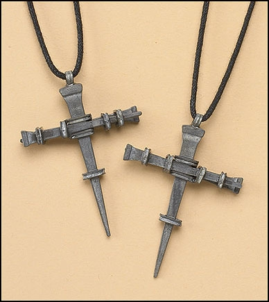 24 pk Nails Cross Necklace