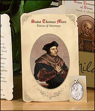St Thomas More (Attorneys) Holy Card with Medal