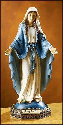 Our Lady of Grace 9 Inch Color statue