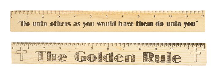 The Golden Rule Wood Ruler