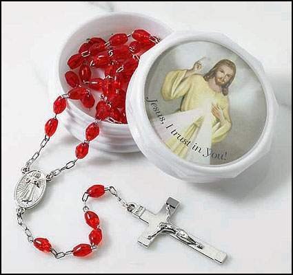 Divine Mercy Rosary in Two-Piece Case