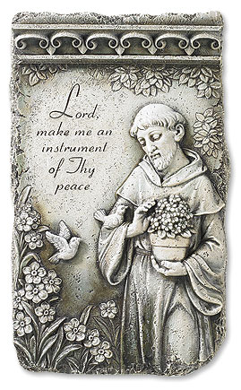 St Francis Stone Resin Plaque