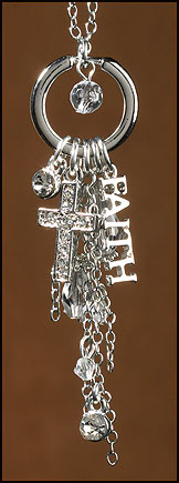 Faith Dangle Silver tone pendant