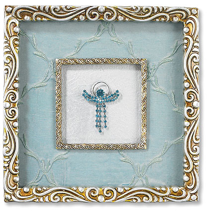 Beautifully ornate angel in frame