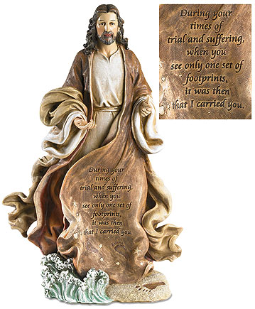 Christ with Footprints Figurine