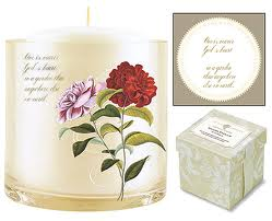 Red Rose Candle with Rose Lavender Scent