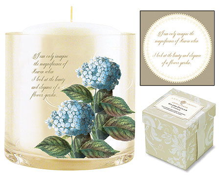 Blue Hydrangea Candle with Rose Lavender Scent