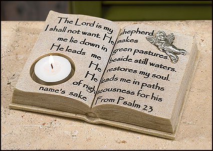 Open Bible-Shaped Tea Light Holder
