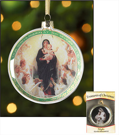 Our Spirits Rejoice at the Savior's Birth Glass Ornament
