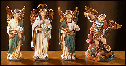 Set of Four Archangel statues