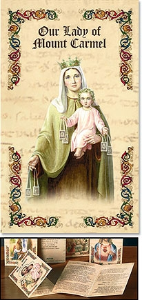 Our Lady of Mount Carmel Patron Saint Prayer Folder