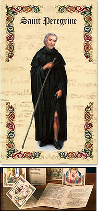 St Peregrine Patron Saint Prayer Folder