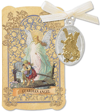 Guardian Angel Card and Medal set