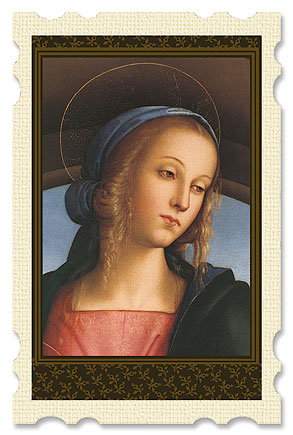 Perugino Madonna Old Masters Holy Card