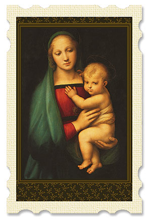 Madonna of the Grand Duke Old Masters Holy Card