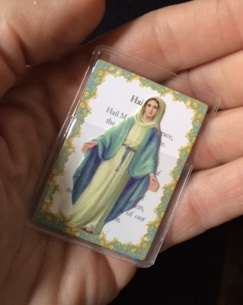 Our Lady of Grace Pocket Saint Card