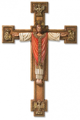 Large Christus Rex Wall Crucifix