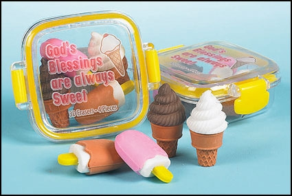 3-D eraser set - God's blessings