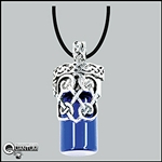 Celtic Heart Holy Water Vial Pendant