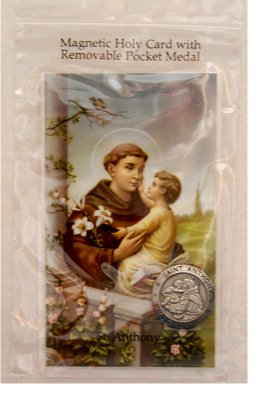St. Anthony Magnetic Token and Holy Card