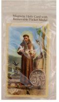 St. Francis Magnetic Token and Holy Card