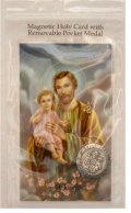 St. Joseph Magnetic Token and Holy Card