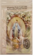 Our Lady of Grace Magnetic  Token and Holy Card