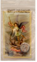 St. Michael Magnetic Token and Holy Card