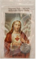 Sacred Heart of Jesus Magnetic Token and Holy Card