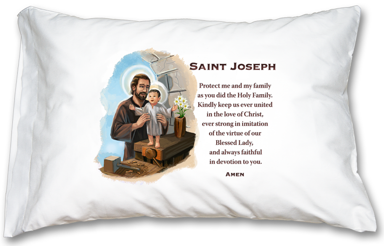 St. Joseph Prayer Pillowcase