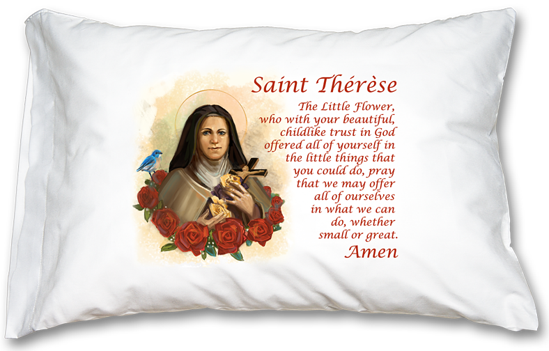 St. Therese prayer pillowcase