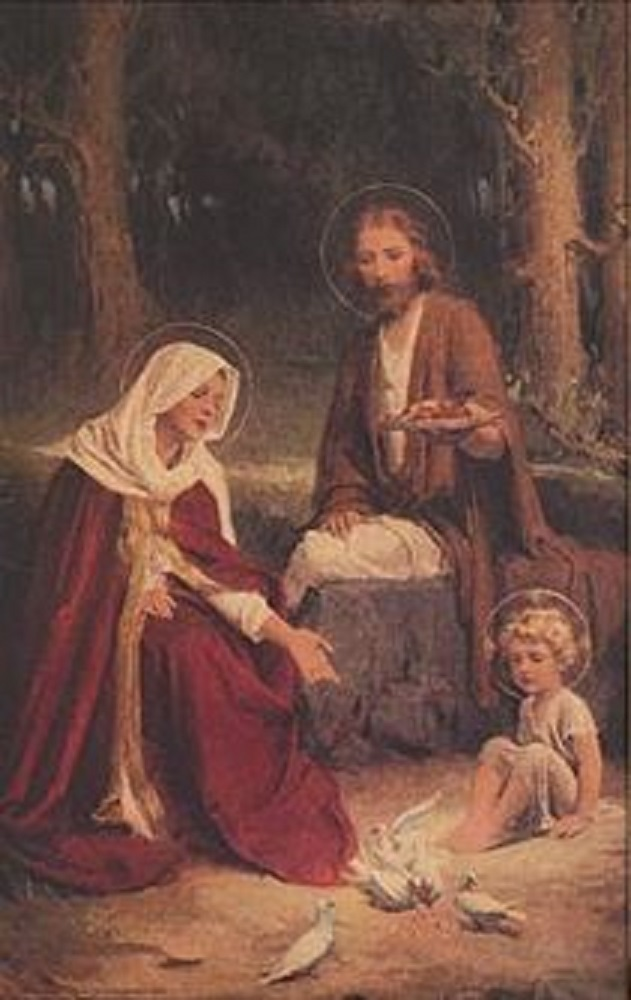 Holy Family Wall Print