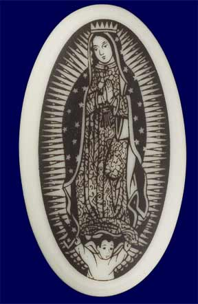 Our Lady of Guadalupe Porcelain Pendant