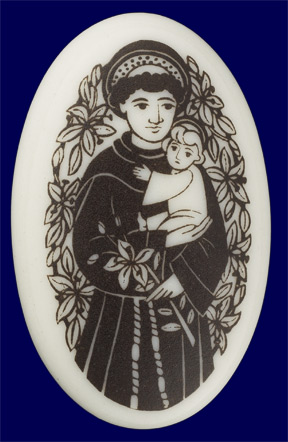 Porcelain St. Anthony Pendant