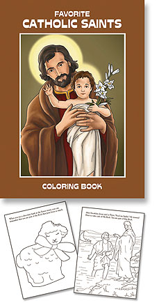 Favorite Catholic Saints Coloring Book