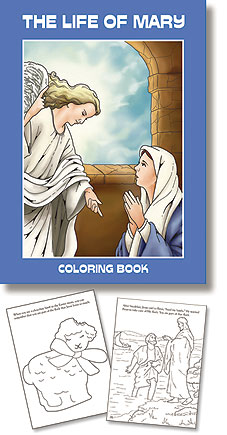 The Life of Mary Coloring Book